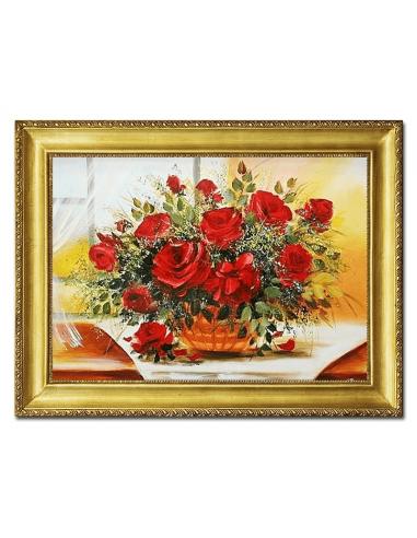 Obraz - Červené ruže vo váze