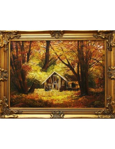 Obraz - Lesná chatka