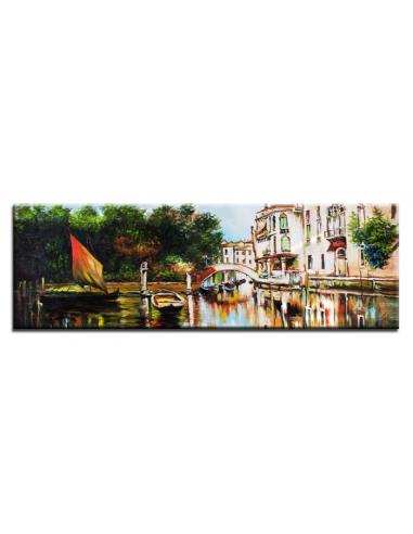 Obraz - Benátsky kanál