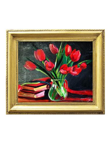 Obraz - Kytica deviatich tulipánov