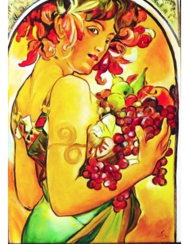 Obraz Alfons Mucha - Ovocie
