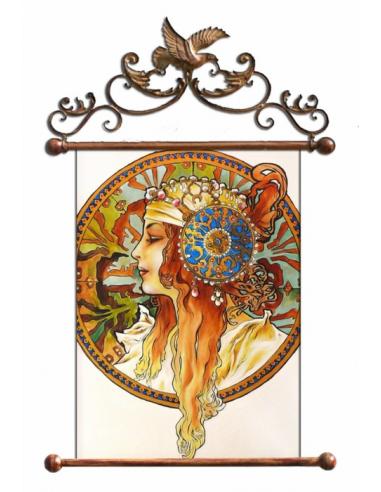 Obraz Alfons Mucha - Byzantská hlava