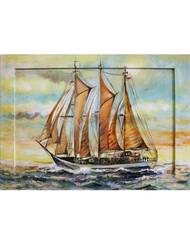 Obraz - Plachetnica na mori