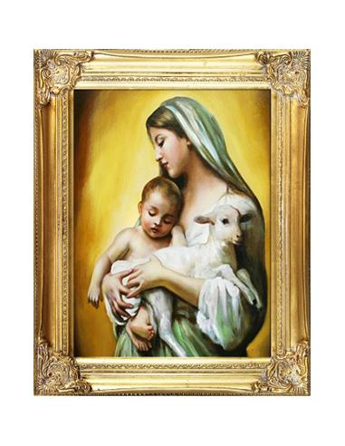 Obraz - Mária s baránkom