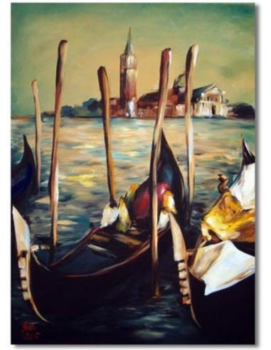 Obraz - Prístav v Benátkach