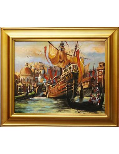 Obraz - Lode kotviace v Benátkach