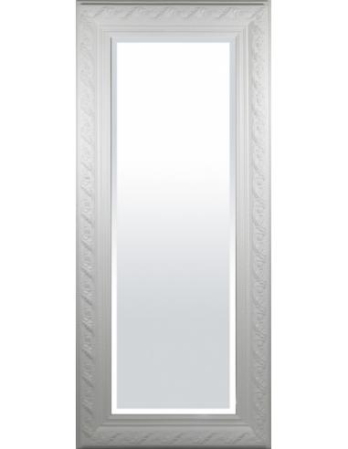 Vyššie zrkadlo v bielom ráme
