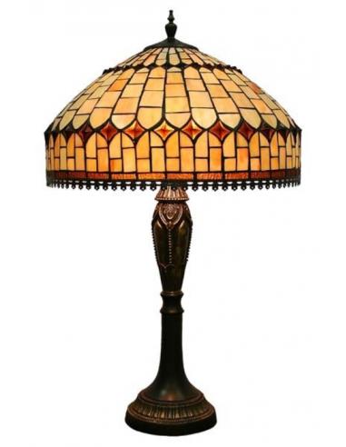 Lampa s hnedou vitrážou L56992