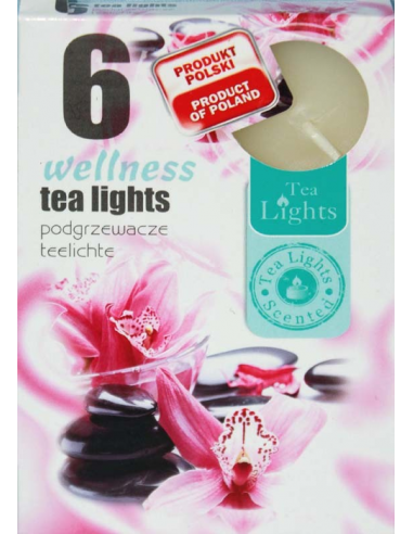 Čajové sviečky wellness