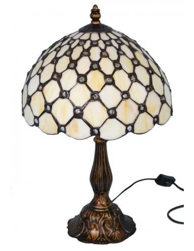 Vitrážna lampa so sieťovým vzorom L83952