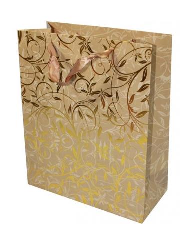 Darčeková papierová taška so zlatým...