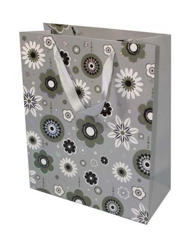 Darčeková papierová taška sivá