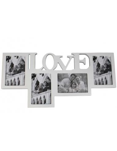 Fotorámček rodinný biely F81139