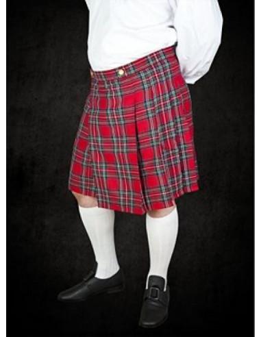 Kilt, škótska sukňa - červený tartan