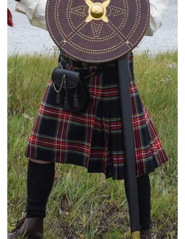 Kilt, škótska sukňa - čierny tartan