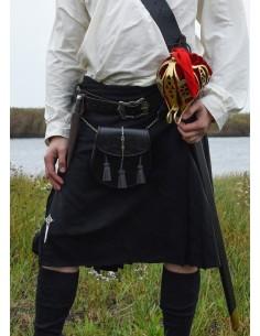 Kilt, škótska sukňa - čierna
