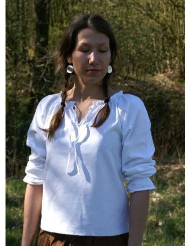 Dámska stredoveká košeľa so šnúrkami
