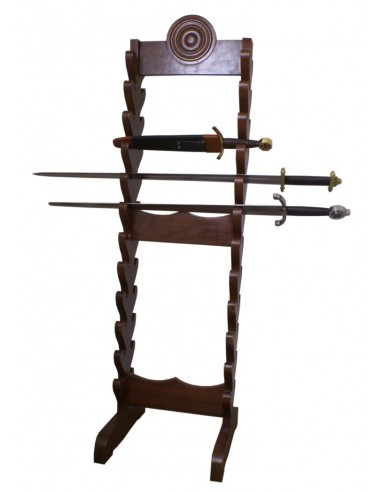 Veľký drevený stojan na meče a dýky