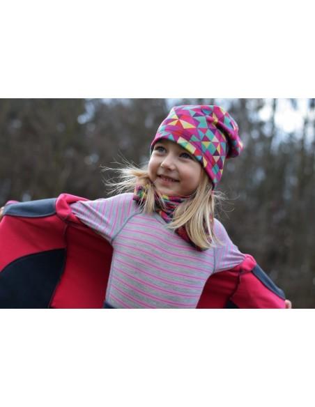 Unuo detská fleecová čiapka Triangel