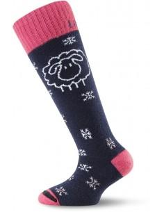 Lasting Merino detské ponožky lyžiarske SJW