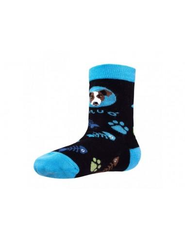 Unuo detské bambusové ponožky Mačka a pes