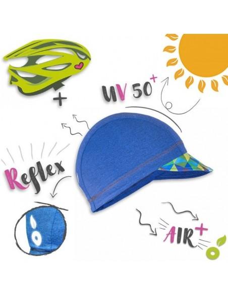Unuo dievčenská funkčná šiltovka so šiltom UPF 50+ Trojuholníky