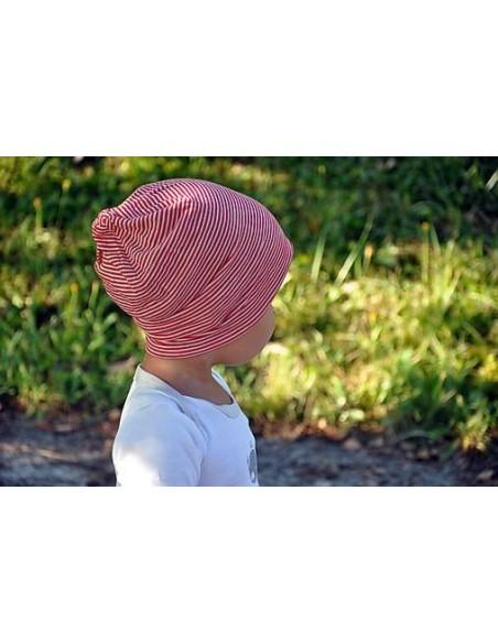 Beerino dvojvrstvová rastúca detská merino čiapka Šmolko