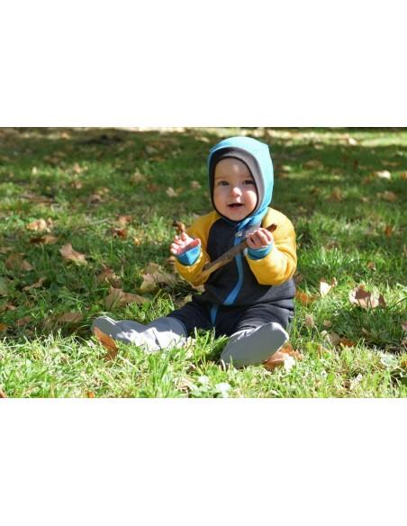 Crawler Merino detská kukla jednovrstvová Tyrkysová