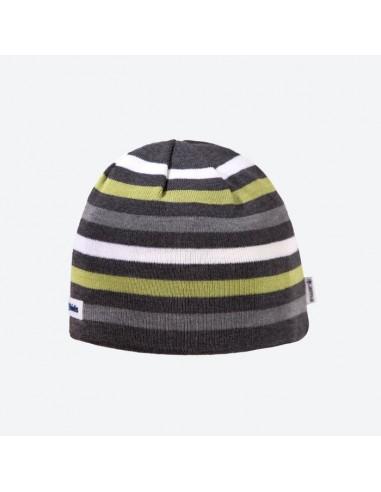 Kama pletená merino detská čiapka pruhovaná B70