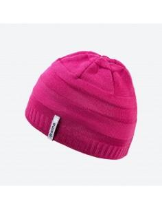 Kama pletená merino detská čiapka s plastickými pruhmi B78
