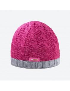 Kama pletená merino detská čiapka s plastickým vzorom B80