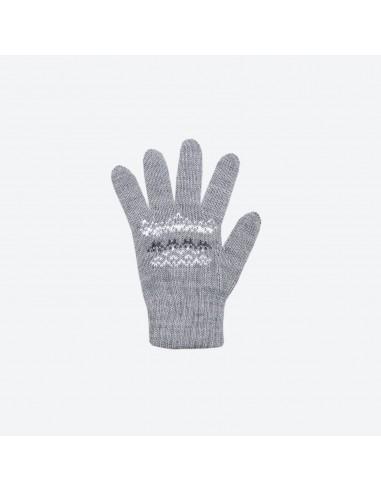 Kama pletené merino detské rukavice so vzorom RB203
