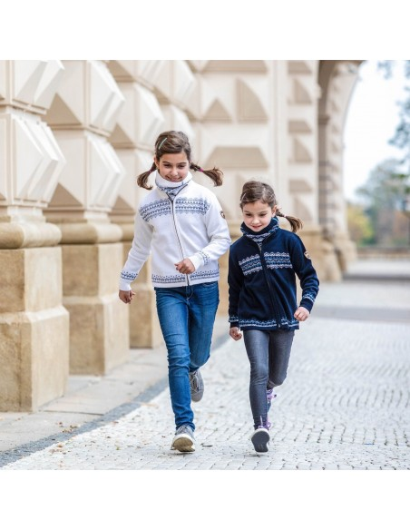 Kama merino detský sveter na zips 1011