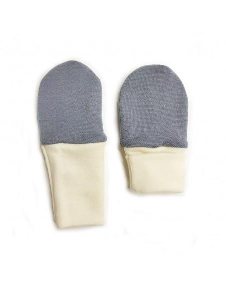 Crawler Merino detské rukavice pästičky dvojvrstvové