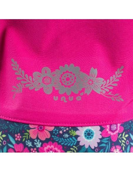 New! Unuo dievčenská softshellová bunda Kvietky