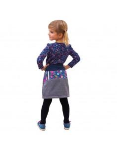 Unuo dievčenská softshellová sukňa s fleecom Kvietky