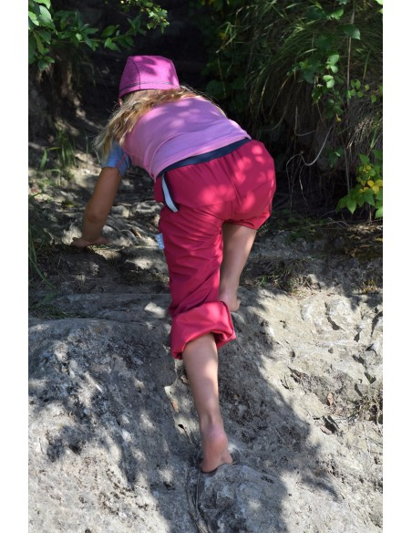 Unuo tenké letné detské softshellové nohavice BEZ zateplenia Eugen
