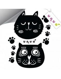 Unuo reflexná nažehlovačka panel 9x13 cm Mačky