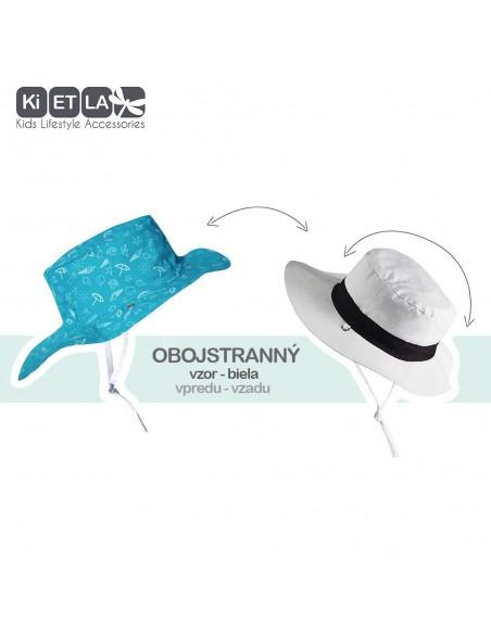 KiETLA obojstranný detský klobúčik s UV ochranou Swimming Pool