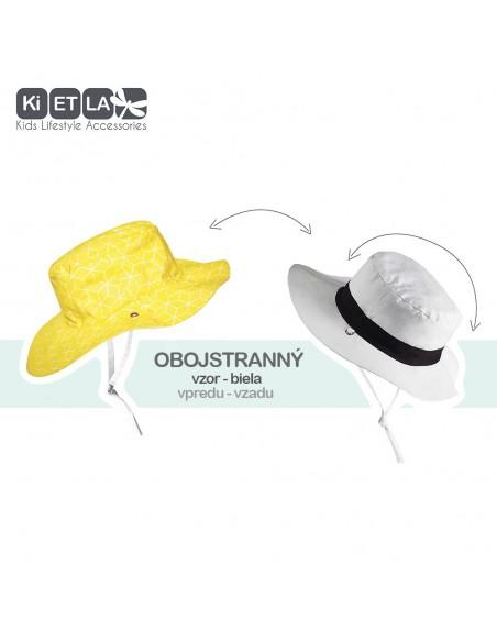KiETLA obojstranný detský klobúčik s UV ochranou Cubic Sun