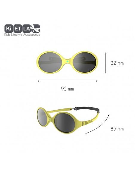 KiETLA detské slnečné okuliare Žltá