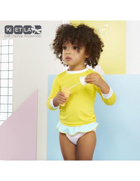 KiETLA detské plavkové nohavičky s UV ochranou Ružový pásik