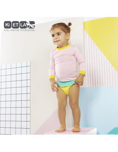 KiETLA detské plavkové nohavičky s UV ochranou Žltá