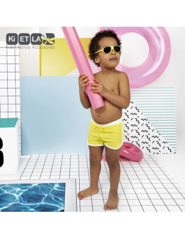 KiETLA detské plavkové šortky s UV ochranou Žltá