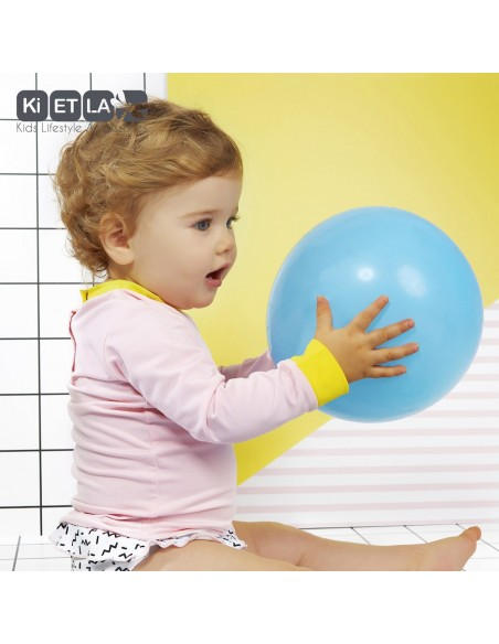 KiETLA detský plavkový top s UV ochranou Ružová
