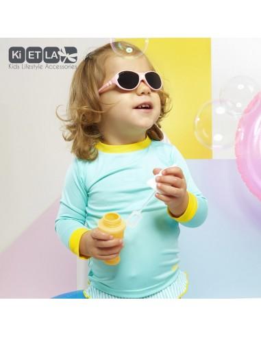 KiETLA detský plavkový top s UV ochranou Zelená
