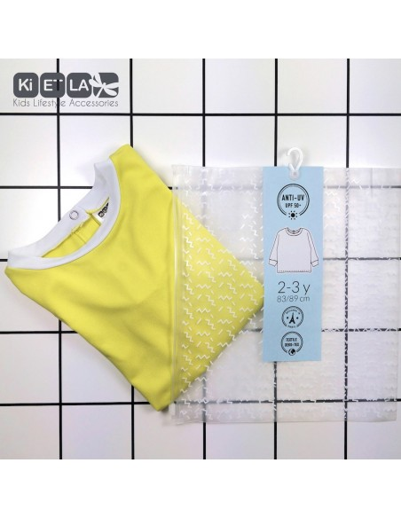 KiETLA detský plavkový top s UV ochranou Žltá