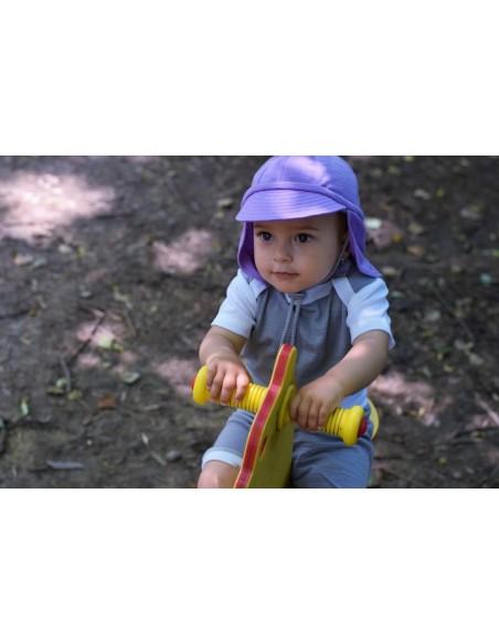 Crawler Merino detská rastúca šiltovka Levanduľová