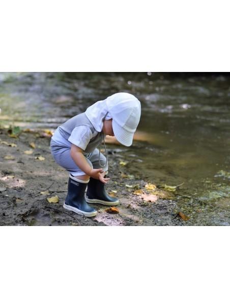 Crawler Merino detská rastúca šiltovka Smotanová