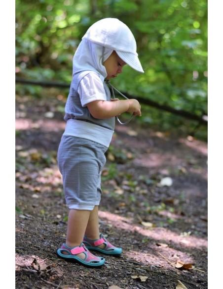 Crawler Merino rastúce detské kraťasy Sivá